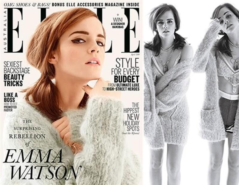 Para la portada de Elle 2014