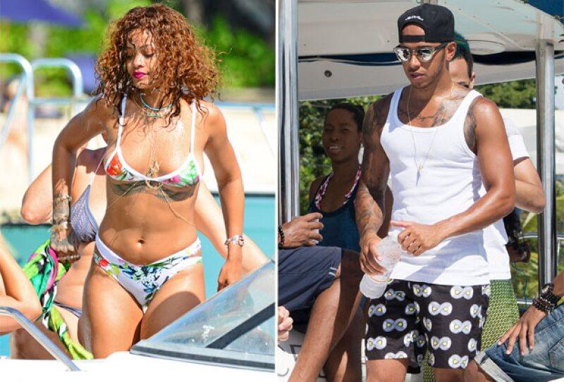 La cantante y el piloto han pasado los últimos días juntos en Barbados, hecho que ha aumentado los rumores de romance entre ellos.