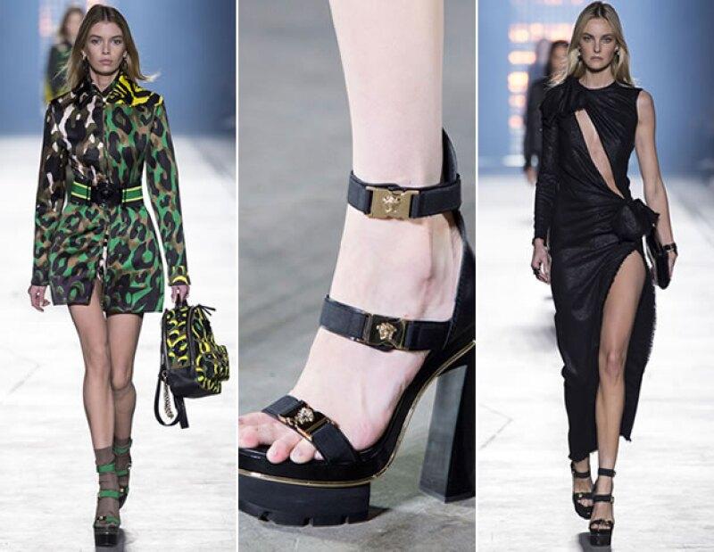 Versace le devuelve la sensualidad a la mujer en su colección.