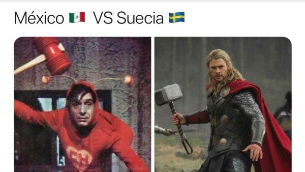 México contra Suecia