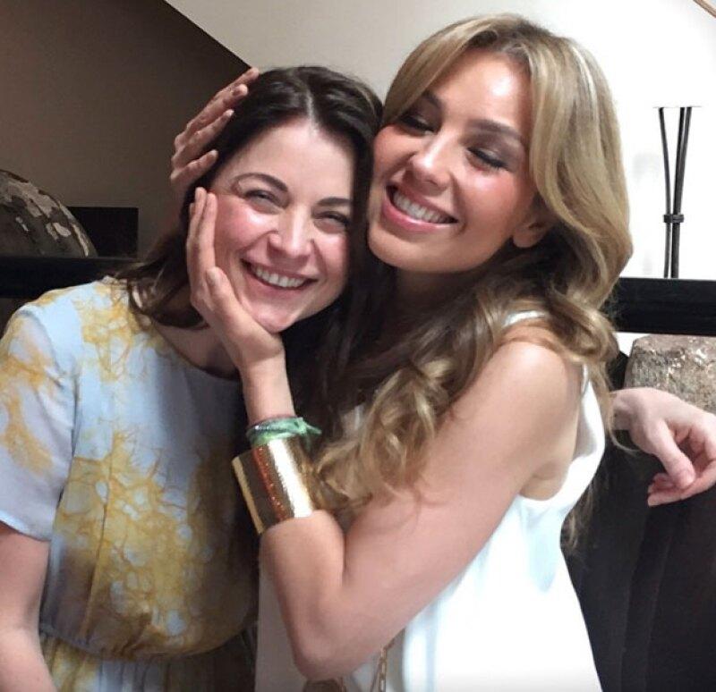 """Aunque ya pasó el día de las madres, las actrices se vuelven a encontrar para recordar sus papeles como mamá  e hija en """"María la del Barrio""""."""