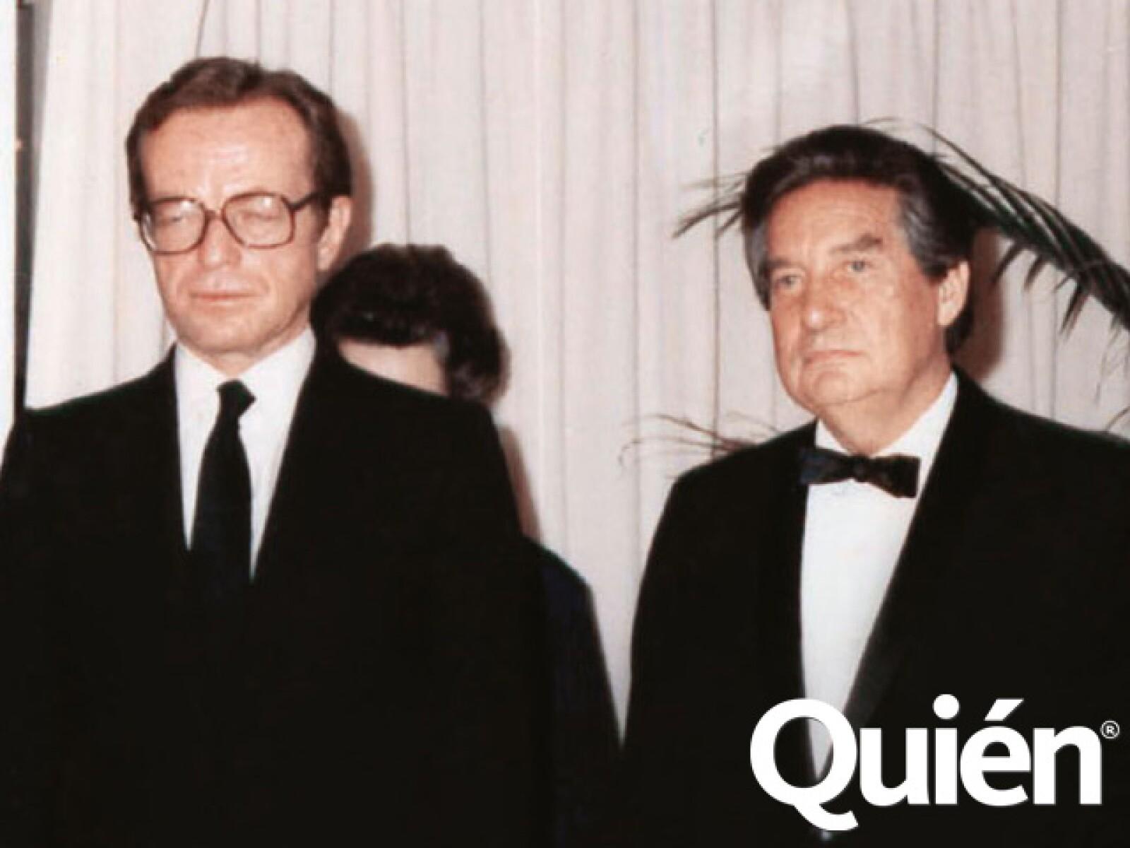 Jacobo y Octavio Paz en la época en que el escritor colaboraba con comentarios en 24 Horas. De ahí nació una gran amistad.