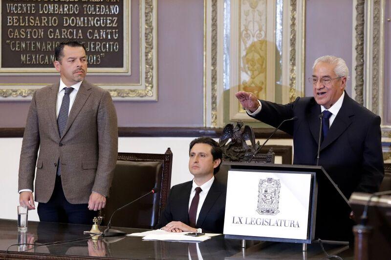 Guillermo Pacheco gobernador interino de Puebla