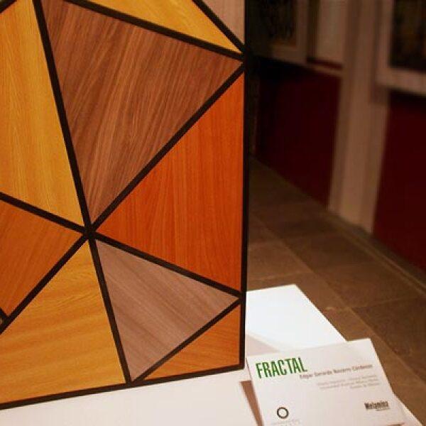 9.Fractal es un mueble de doble uso eco-sustentable creado a partir de los residuos de material de los tableros de aglomerado presentes en la industria. Diseño: Edgar Gerardo Navarro Cárdenas.