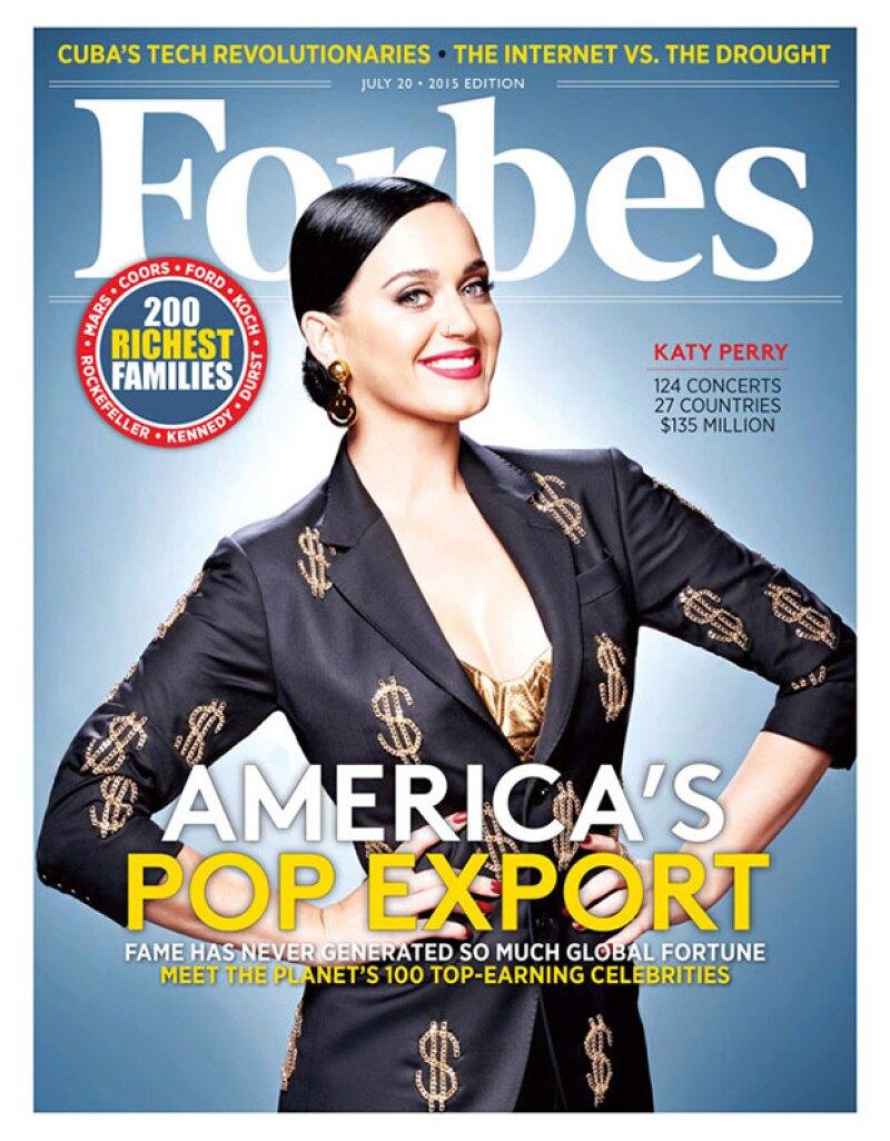 """¿Taylor, Beyoncé o One Direction? ¡No! La revista Forbes ha revelado la lista de las 100 celebridades mejor pagadas del espectáculo, y la intérprete de """"Dark Horse"""" es quien lleva la delantera."""