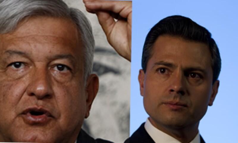 Andrés Manuel López Obrador y Enrique Peña Nieto afirmaron que reconocerán los resultados de la elección del 1 de julio. (Foto: AP)