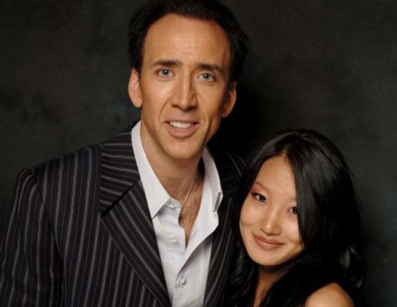 Alice atendió la mesa de Nicolas Cage en un restaurante en Los Ángeles y ahí se enamoraron.