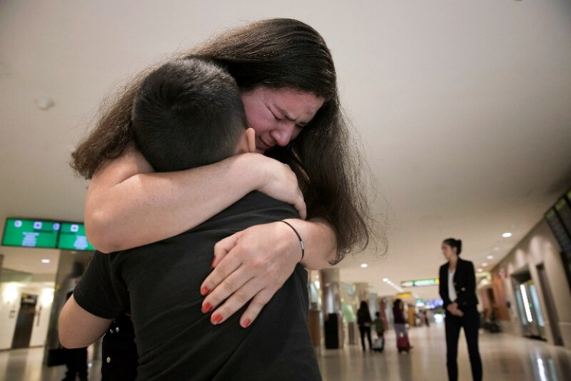 El Salvadoran Mother And Son Separated Since June 13 At US Border Reunited At BWI