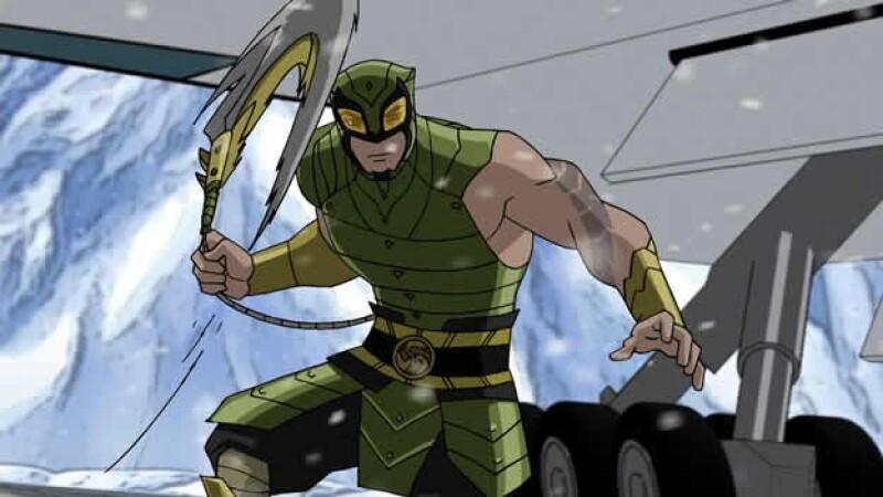 super heroe y personaje de caricatura