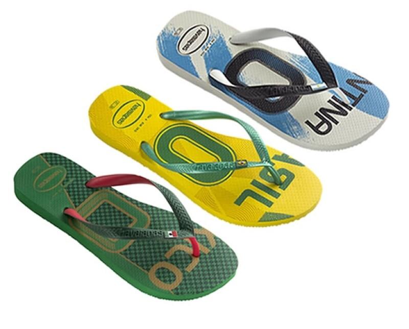Las flip flops brasileñas, edición especial del Mundial están disponibles en tiendas departamentales.