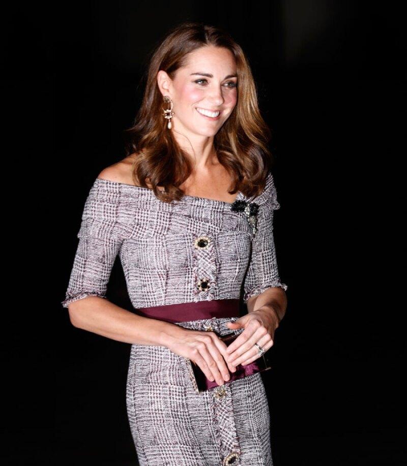 Kate Middleton vestido tweed