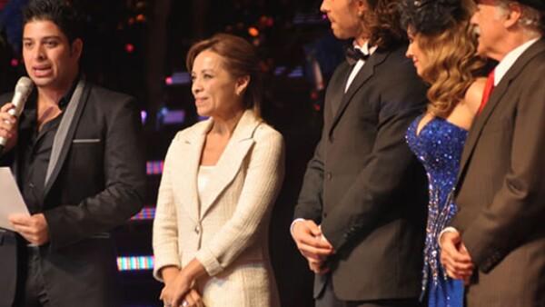 Josefina Vázquez Mota, candidata del PAN a la presidencia de México, fue una de las madrinas del festejo.