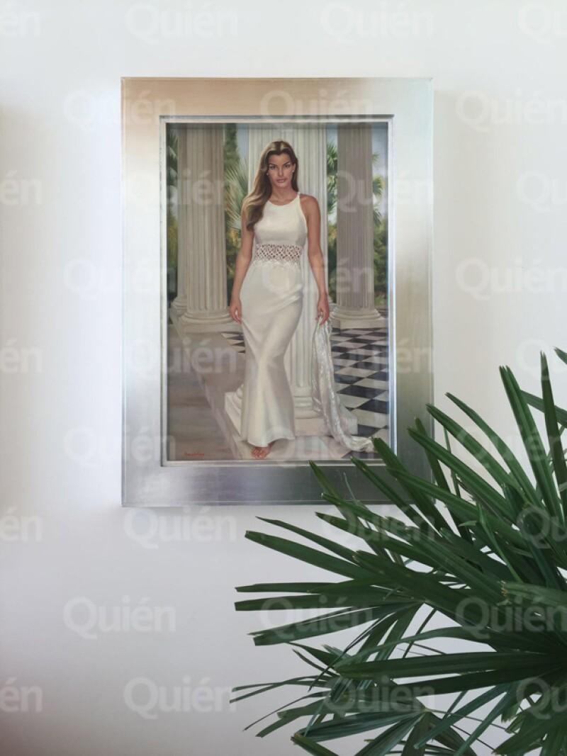 Dentro de la casa de Ernesto y Letty Coppel se encuentra este retrato de Bárbara, su hija, que fue pintado por Armando Nava en 1998.