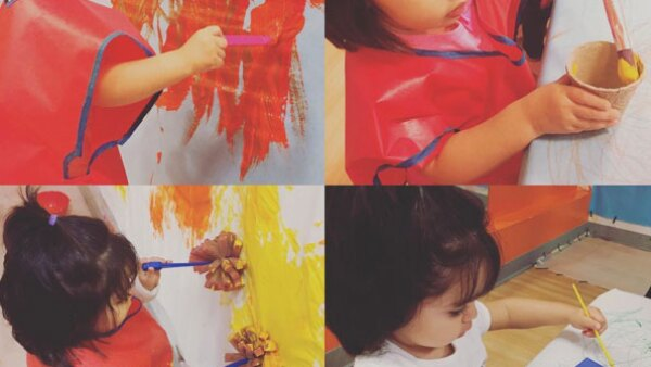 La más pequeña de los Derbez parece haber heredado el talento artístico de su familia, aunque ella prefiere la pintura.