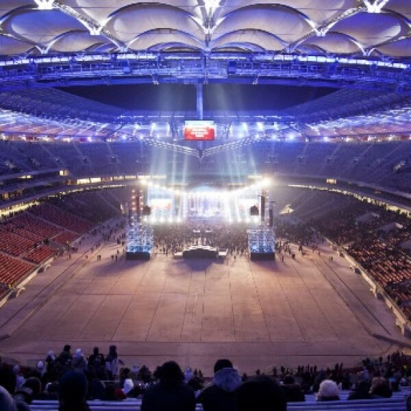 polonia estadio de futbol nacional inauguracio