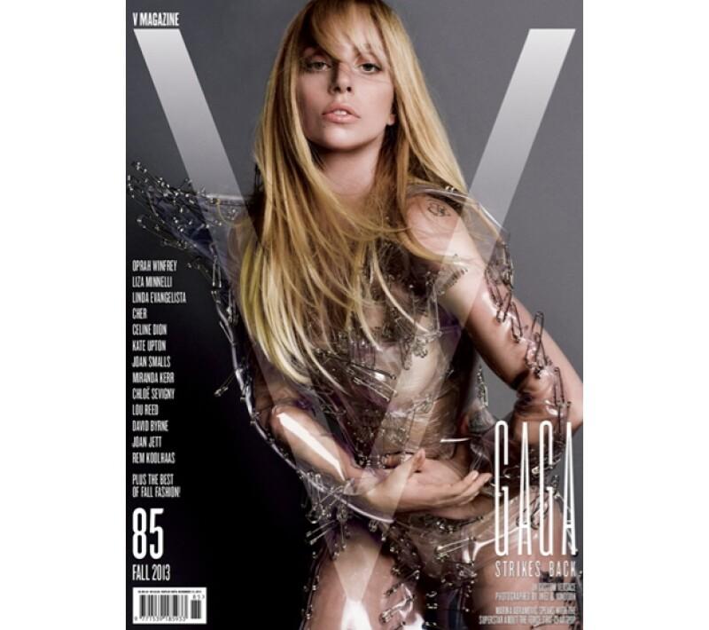 Lady Gaga para la portada de la revista `V´.