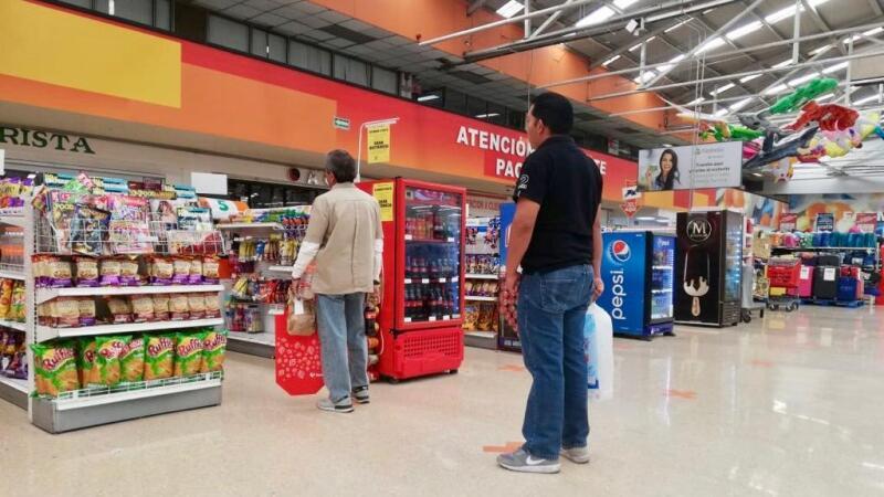 Sana distancia en supermercados