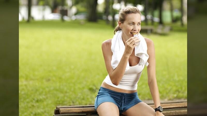 comer antes ejercicio barra cereal