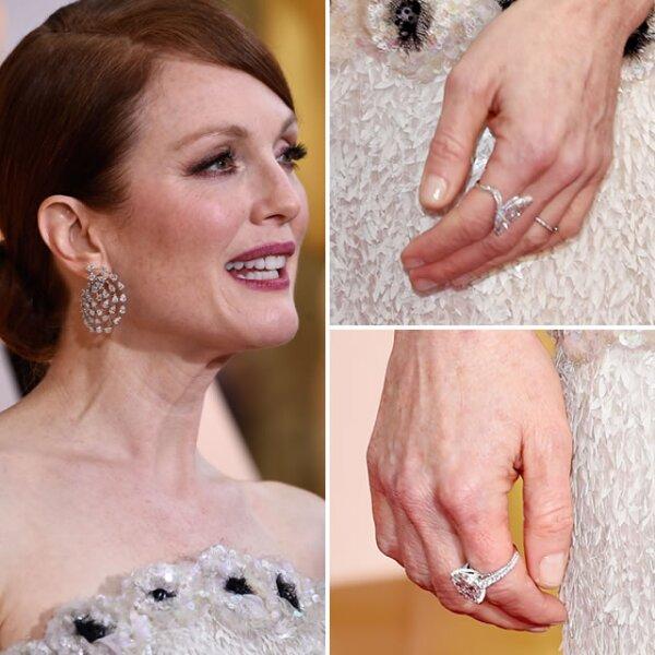 Julianne Moore ganó el Oscar con aretes y anillos de Chopard que superaban los 30k.