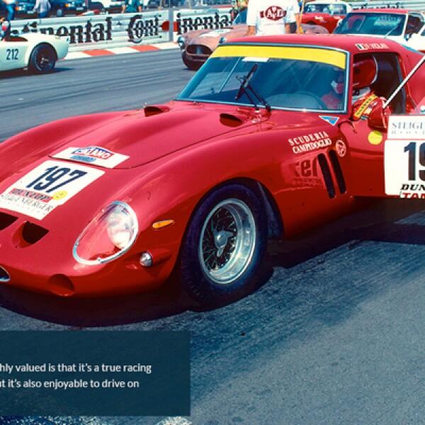 2.Una de las razones por las que el GTO está tan valuado es que es un auto de carreras, y uno de los mejores, pero también es fácil de manejar en la calle.
