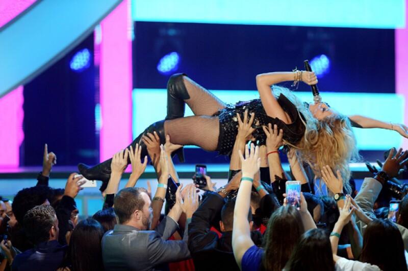 La cantante demostró que ya está recuperada tras el nacimiento de Eros.