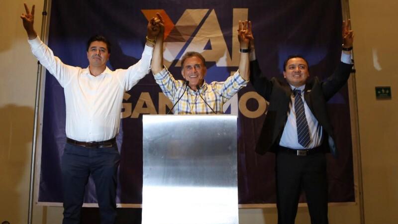 El candidato del PAN-PRD se declaró ganador de la contienda electoral.