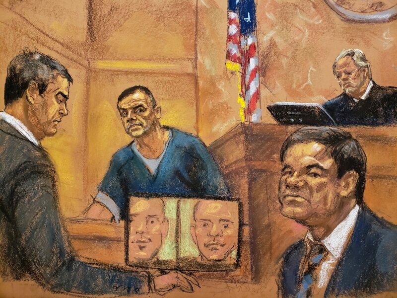 Chapo juicio grabaciones Flores