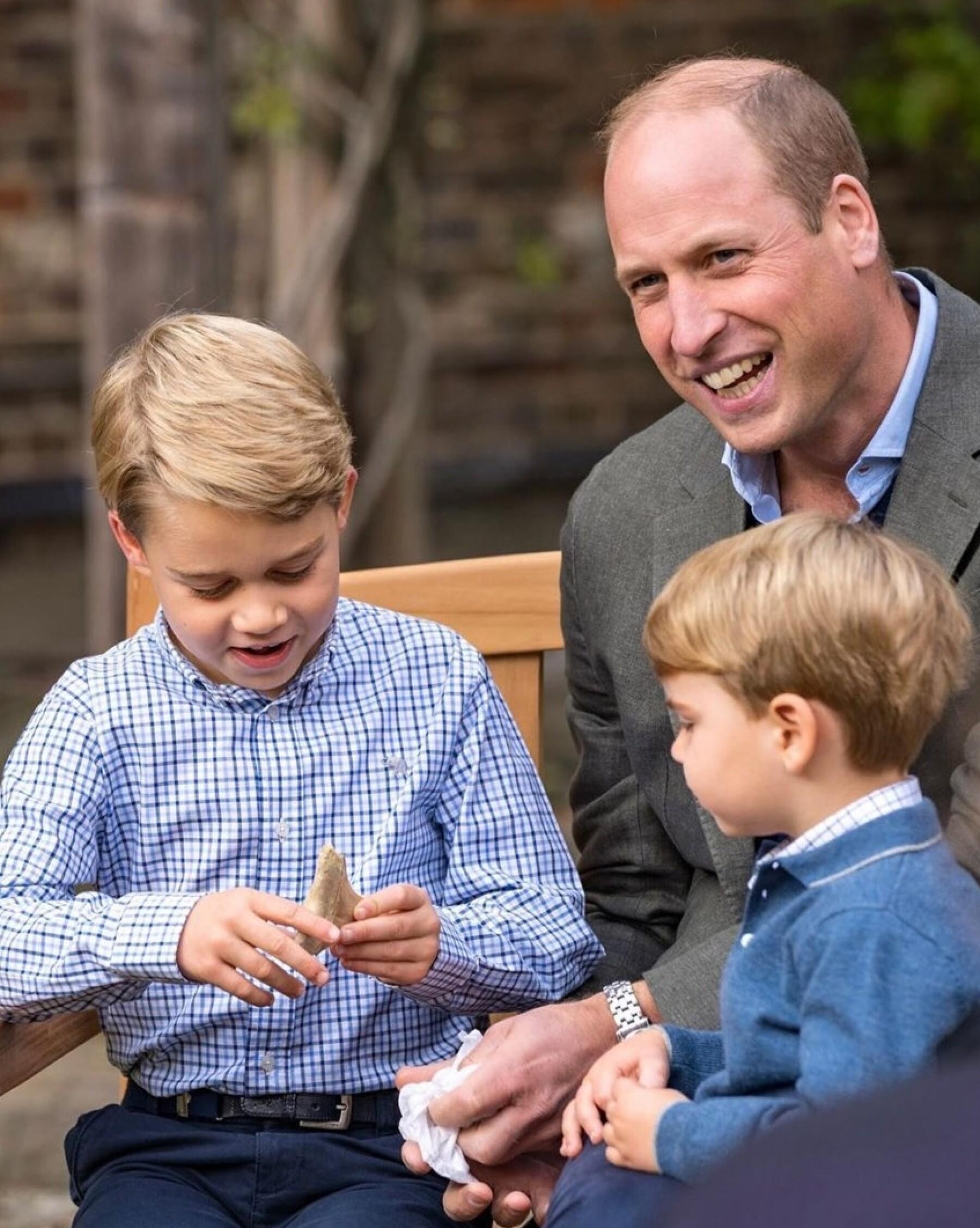 Príncipe George, príncipe William y príncipe Louis