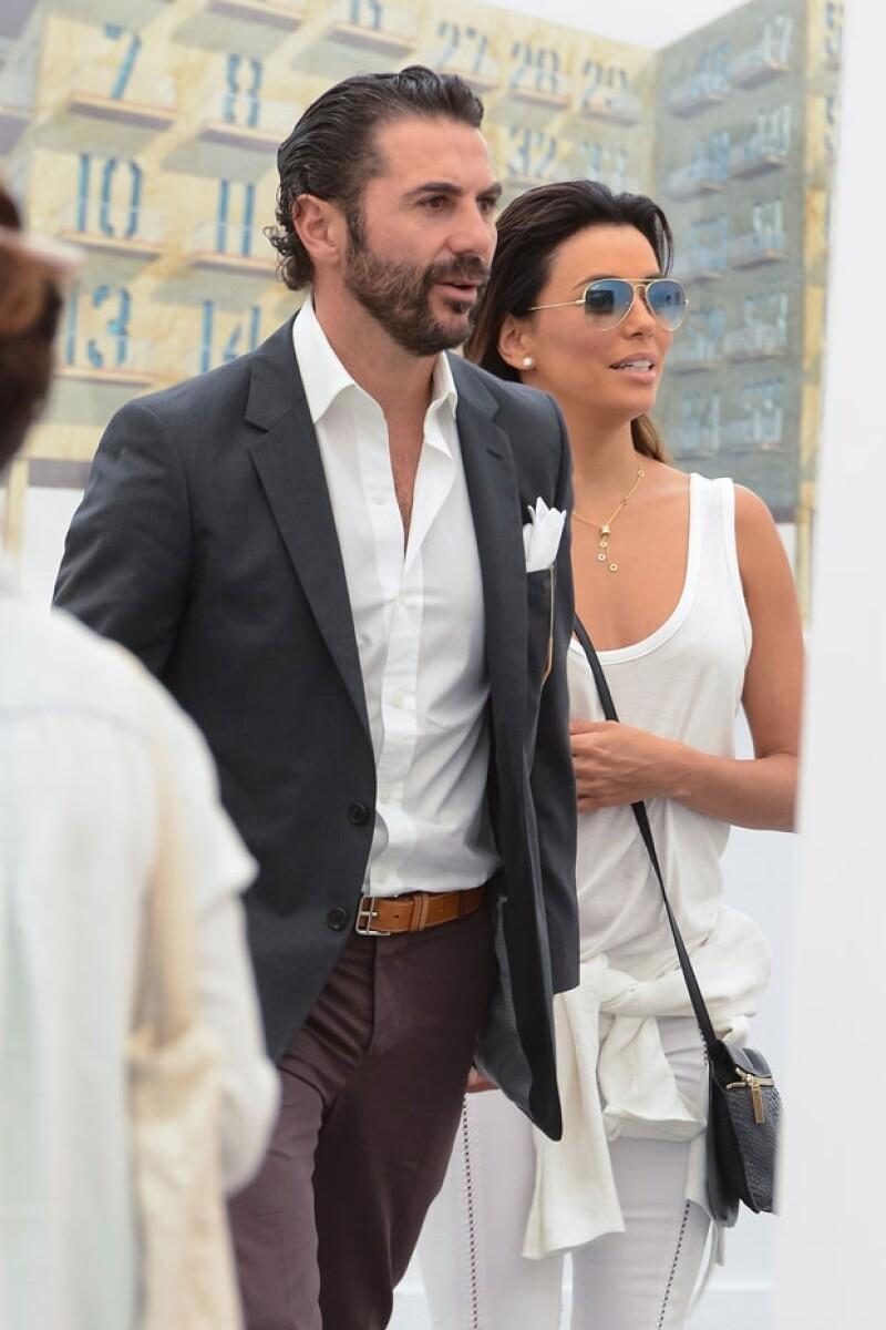 La pareja asitió hace dos semanas a Frieze Art Fair de NY.
