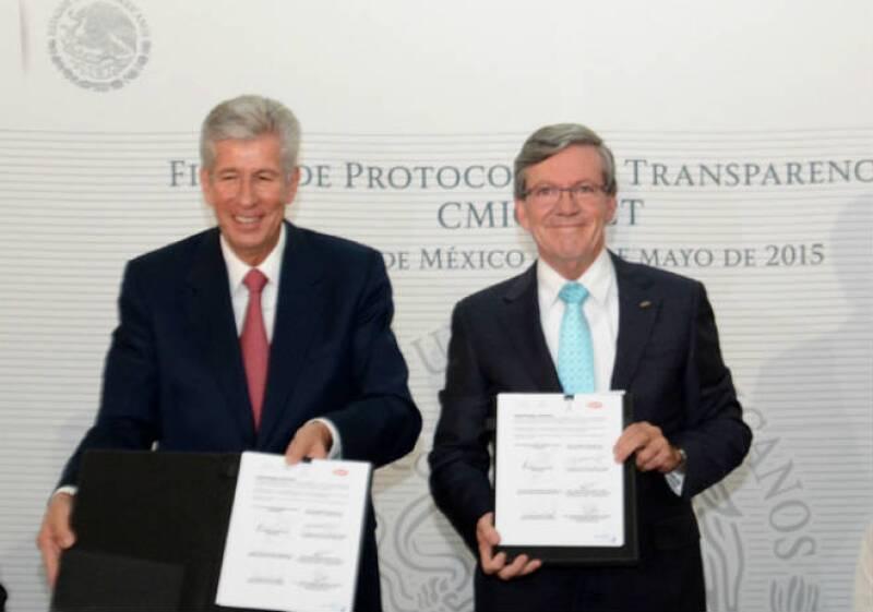 Firma de transparencia SCT y CMIC