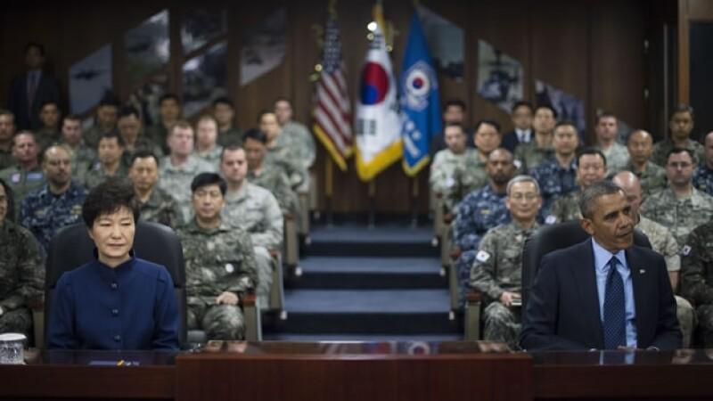 Barack Obama Corea del Sur