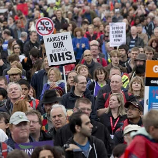 Londres protestas recortes