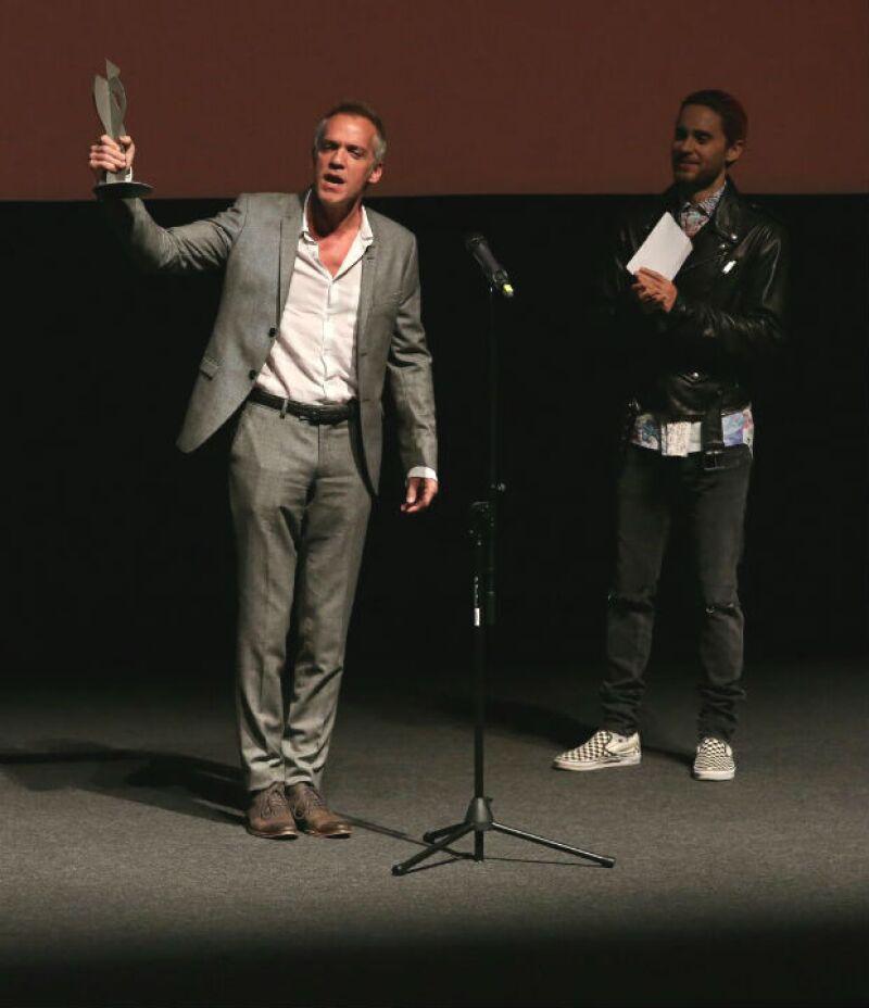 Jared acompañando a Jean-Marc en su tributo en Los Cabos.