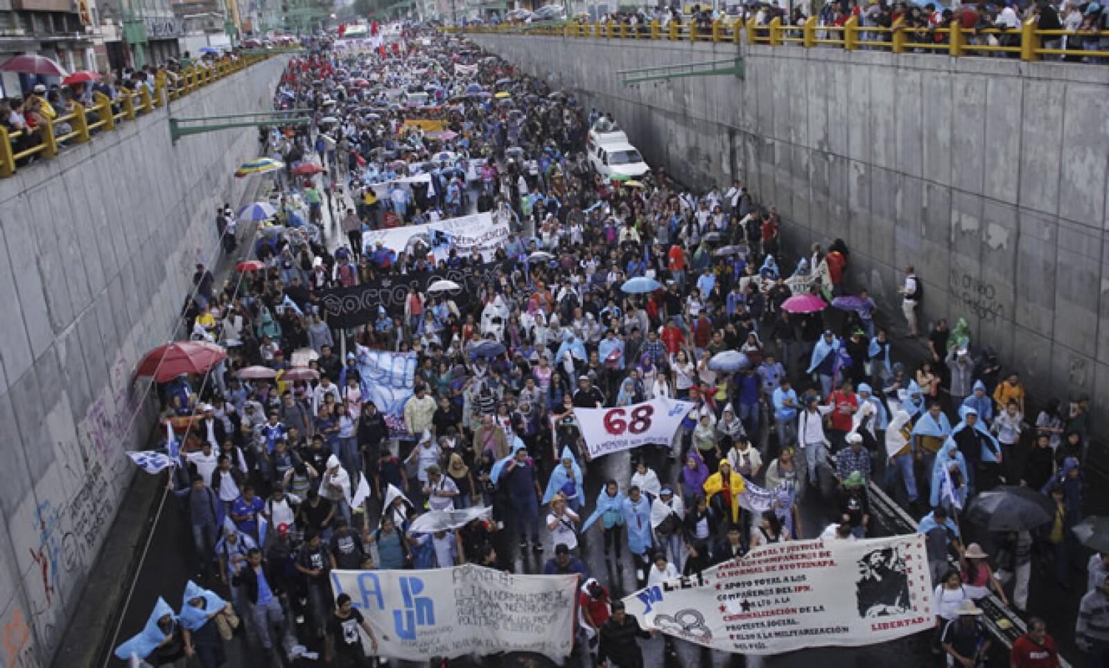 Los politécnicos participaron a título personal para no interferir con las negociaciones de su movimiento con el Gobierno federal.