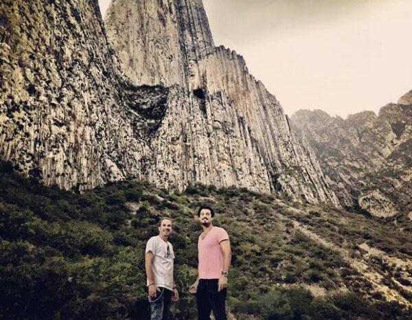Bárbara tomó esta imagen de su amigo y su esposo en la Huasteca en Monterrey.