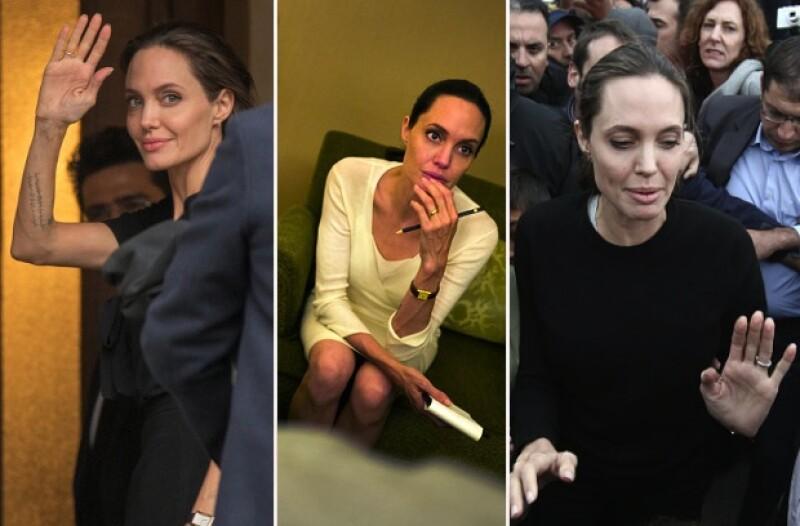 Angelina no solo tiene un aspecto ultra delgado, sino también demacrado.