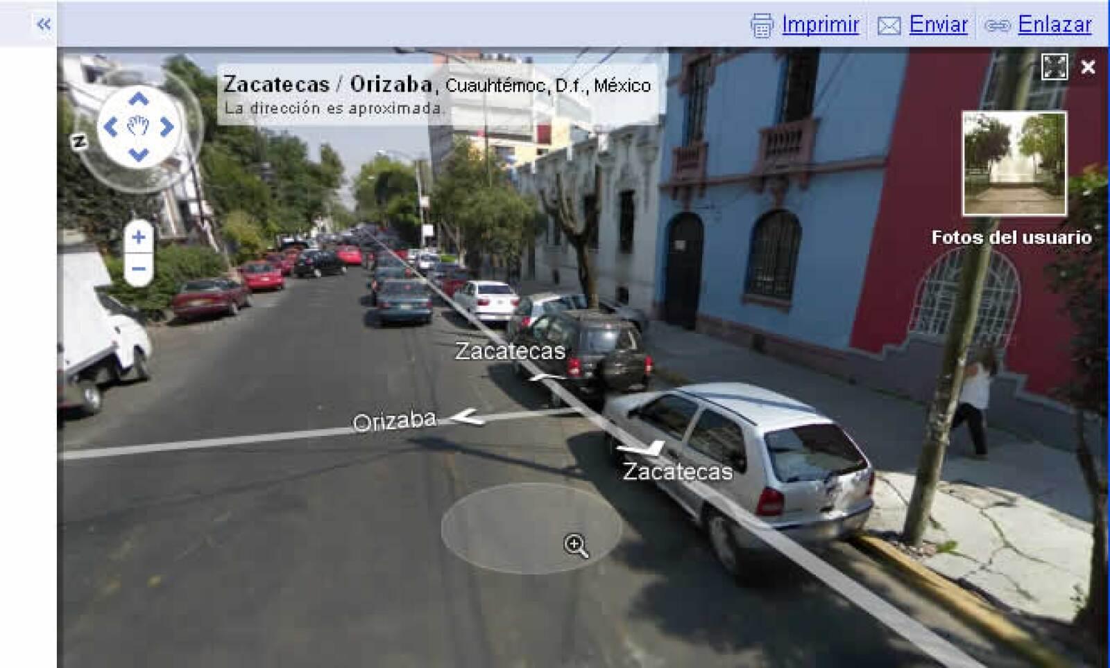 Google lanzó el 9 de noviembre el servicio Steet View que permitirá a los usuarios tener una visión fotográfica de 360° de las calles mapeadas de la Ciudad de México, Monterrey, Guadalajara, Puebla, Cancún y la Riviera Maya y Puerto Vallarta.