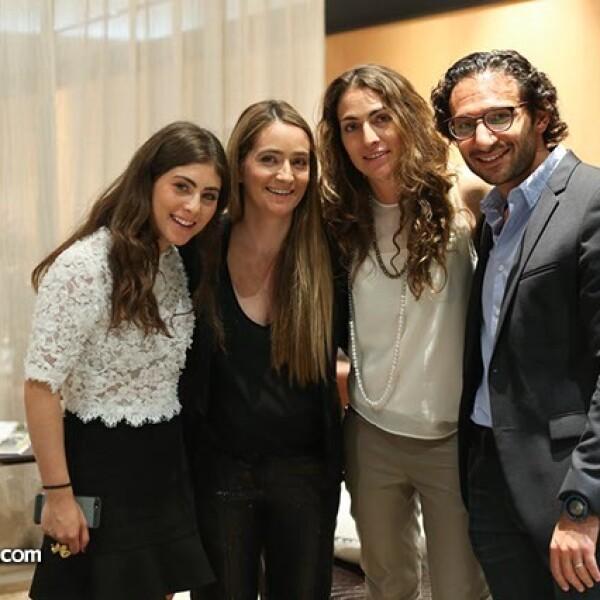 Valerie,Sary y Stephanie Esses con Elías Levy