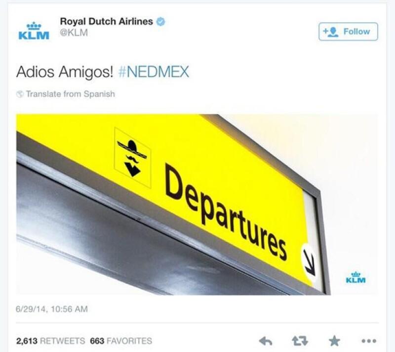 Este fue el tuit que publicó la aerolínea, el cual fue borrado casi al instante.