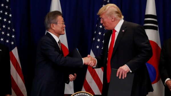 Donald Trump Moon Jae In acuerdo comercial Estados Unidos Corea del Sur