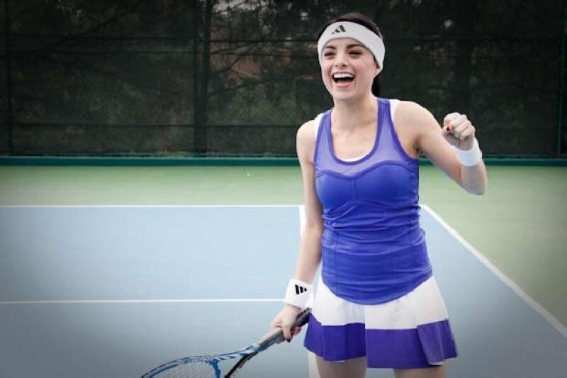La actriz que siempre buscó una oportunidad en la cancha de tenis ahora la consigue en una sesión de fotos exclusiva para Quién.com