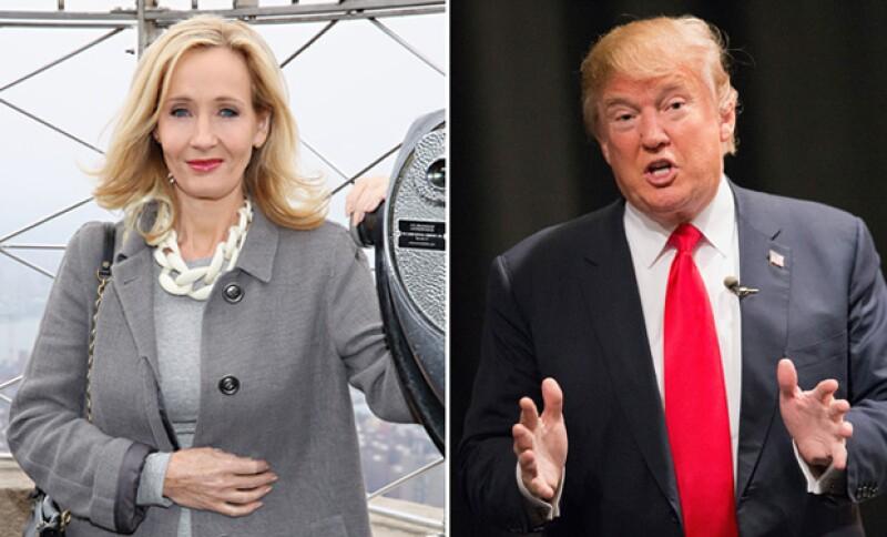 La autora de Harry Potter reaccionó después de que comenzaran a comparar al candidato a la presidencia de Estados Unidos con uno de sus personajes.