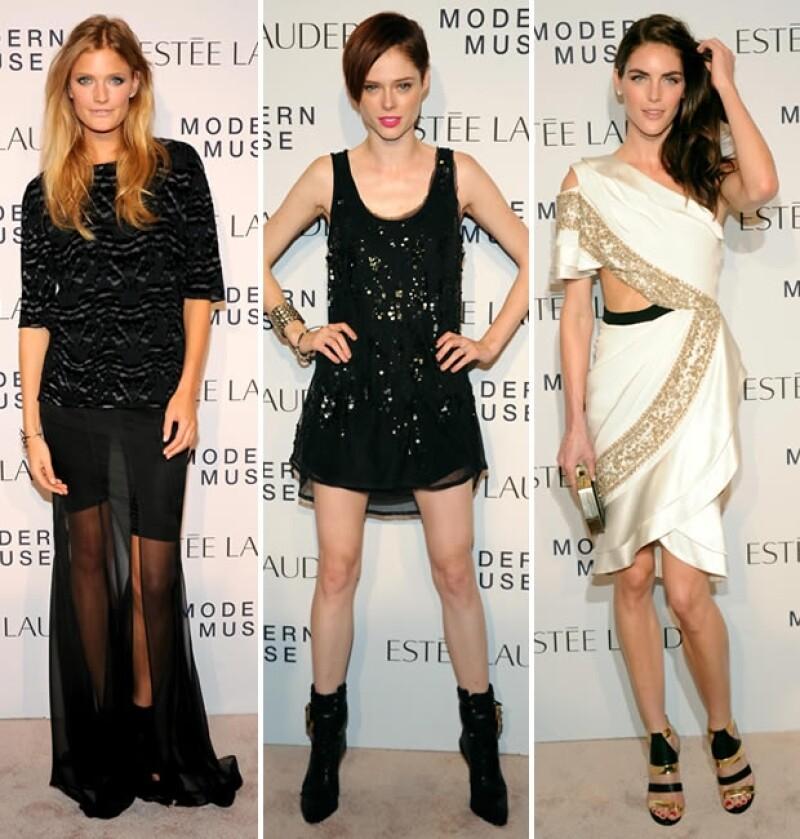 Las modelos Constance Jablonski, Coco Rocha y Hilary Rhoda.