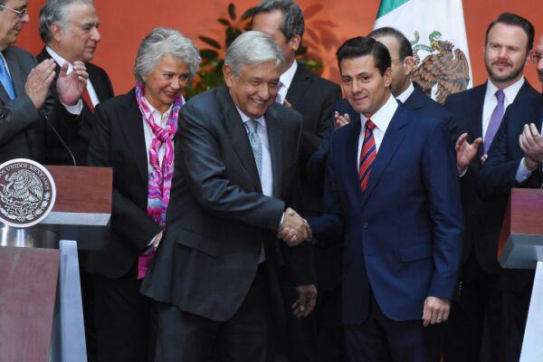 Andrés Manuel López Obrador y Enrique Peña Nieto.