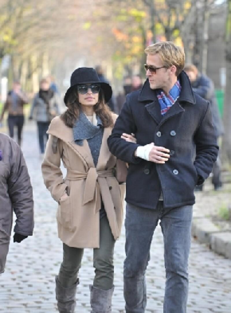 Eva y Ryan comenzaron su relación en el 2011, aquí en París, de las primeras veces que fueron captados como pareja.