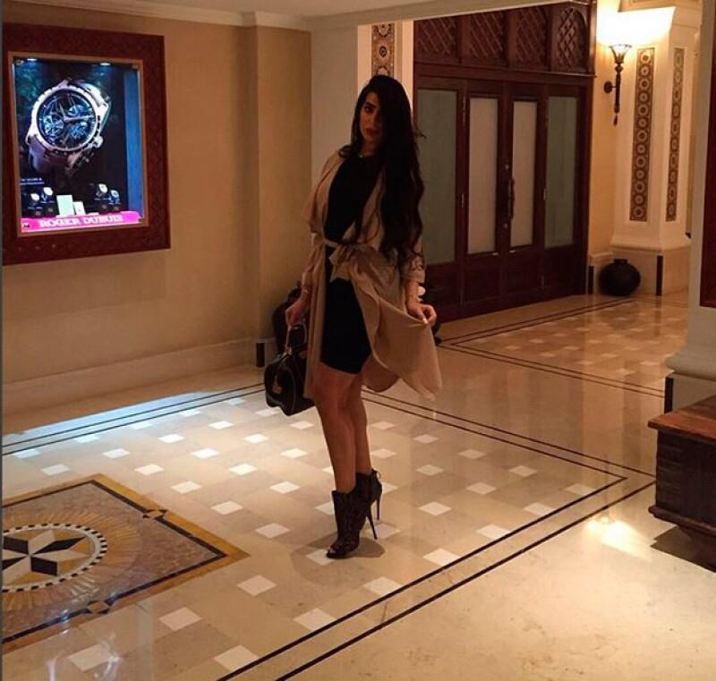 El gusto por la moda de Jasmin es evidente en sus redes sociales.