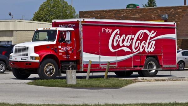 Camión repartidor de Coca-Cola