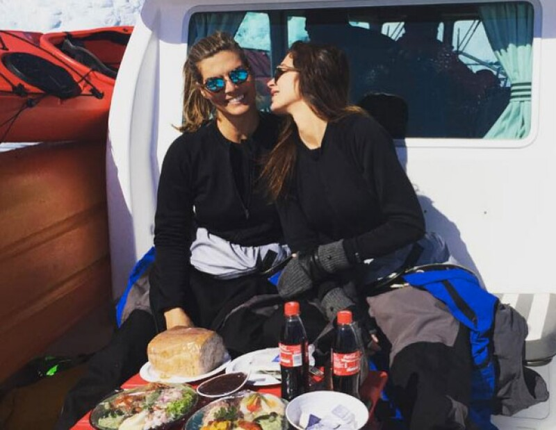Montserrat y Yaya durante su más reciente viaje a Groenlandia.