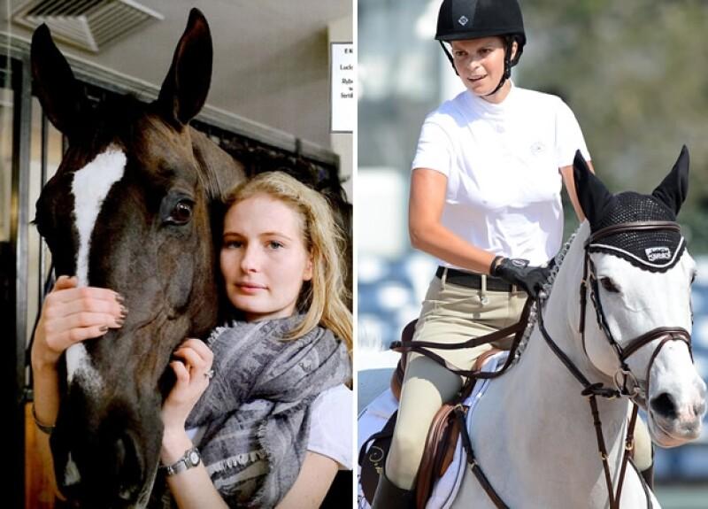 Ekaterina y Athina son amantes de los concursos hípicos.