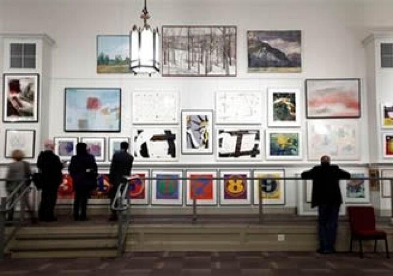 La subasta de arte del banco Lehman Brothers atrajo a 400 asistentes en la casa  Freeman's Filadelfia.  (Foto: AP)